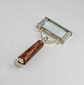 Optiker Schreibtischobjekte Silberfarben Lupe Rechteckig Metall Vernickelt 9977337 Einen Einzigartigen Nationalen Stil Haben