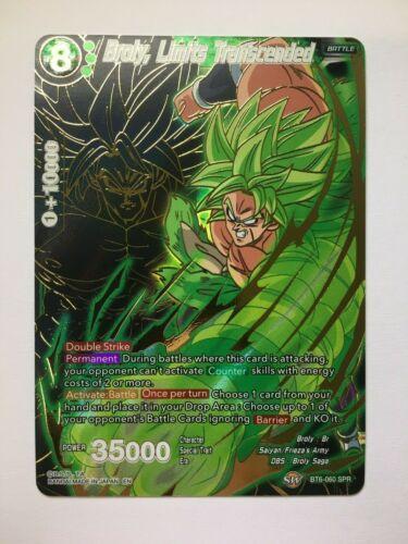 Broly Limits Transcended SPR Dragon Ball Super CG NM//M BT6-060