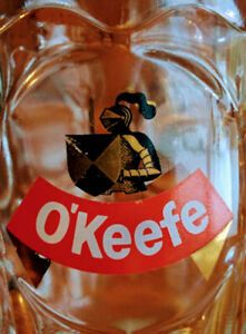 Vintage-Canadian-O-039-KEEFE-GLASS-Beer-MUG-Stein-with-HANDLE-Carling-OV-Brewery-5-034