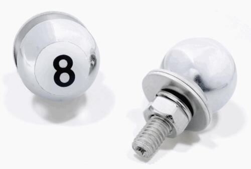 Kennzeichenschrauben 8-Ball chrom