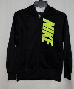 Details about Nike Boys Therma BlackVolt Graphic FZ Hoodie Sweatshirt (915413 011) Size L&XL