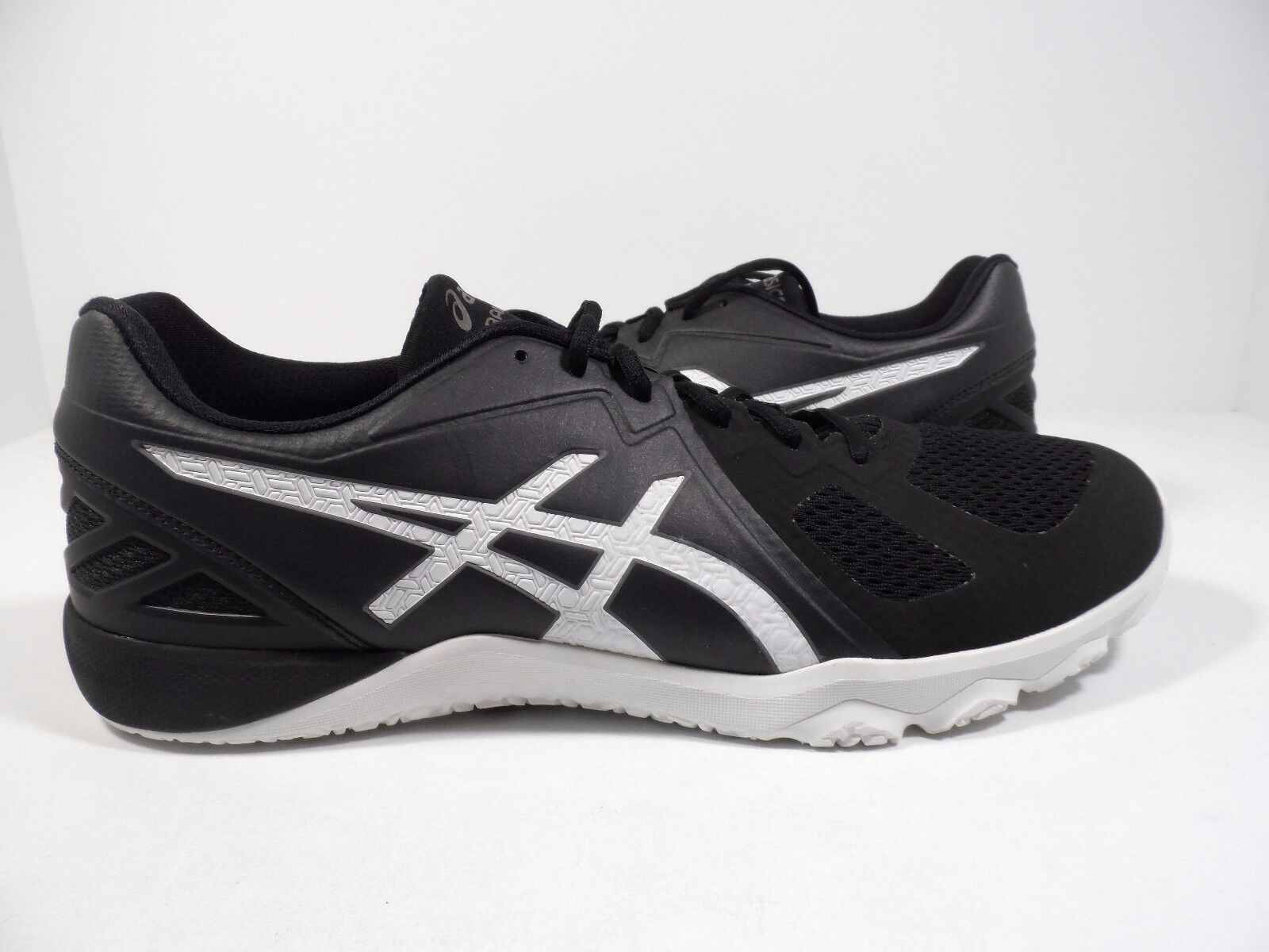 ASICS Men's Conviction X Cross-Trainer shoes Black White white Size 7