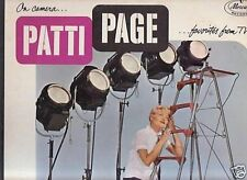 PATTI PAGE-ON CAMERA-FAVORITES FROM TV-MERCURY-LP-MONO