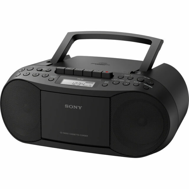 Sony CFD-S70 CD/Cassette-Corder Mega Bass Boombox, AM/FM, Headphone/Line-in Jack