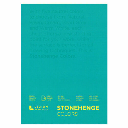 "5/""x7/"" -9/""x12/"" Stonehenge Paper Pad 11/""x14/"" MIXED COLOURS 115lb // 250gsm"