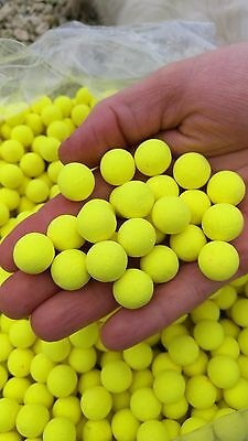 Bright Yellow Garlic Fluoro Pop-ups Boilie Fishing Bait 15mm Pop Up Carp Bait