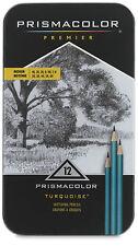 Prismacolor Premier Turquoise Medium Sketching Pencils 12 pack - NIB