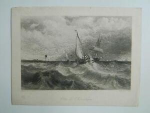 Gravur Marine Nach C.Stanfield Graviert Von W.Miller Côtes De L' Küste