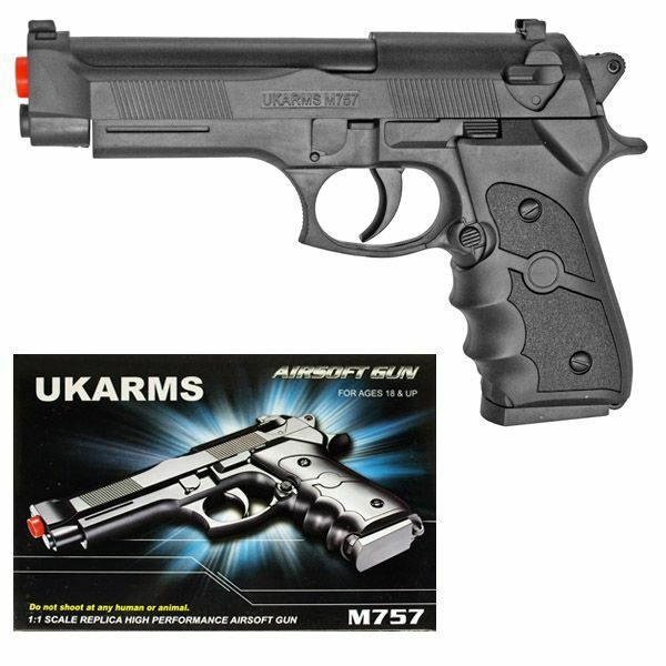 Uk Arms 8 5 Silver Plastic Airsoft Pistol Handgun Gun W Bb M757s 160fps Beretta For Sale Online Ebay