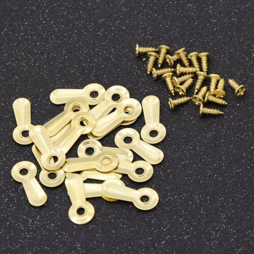 20x Bilderrahmen Drehknopf Spiegel Zubehör mit Schrauben Legierung Golden Silber