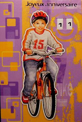 Carte Postale D Anniversaire 11 Ans Joyeux Anniversaire Enveloppe Velo Garcons Ebay