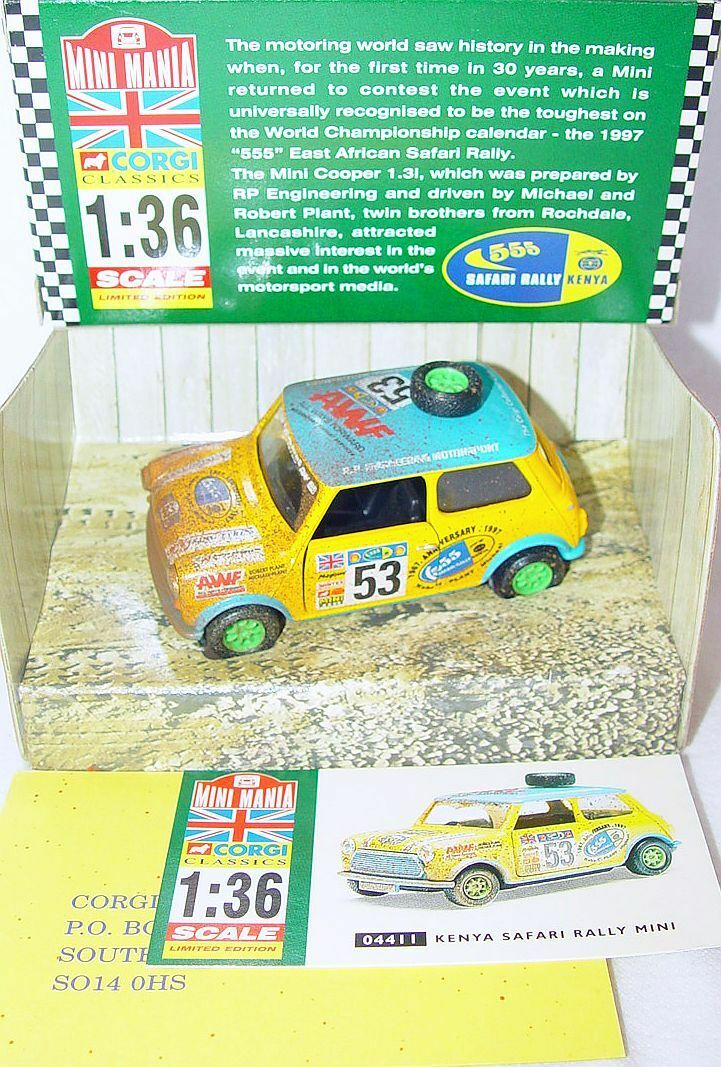 Corgi Toys 1 36 MORRIS MINI COOPER  KENYA SAFARI  MINI MANIA  WEATHERED  Car MIB