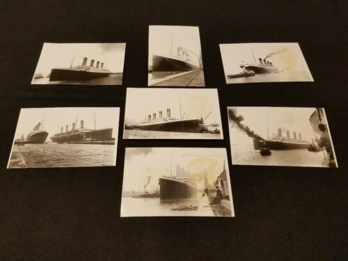 Stamped and Signed TITANIC PHOTO POST CARDS THAT DOVE TO THE WRECK IN 2005