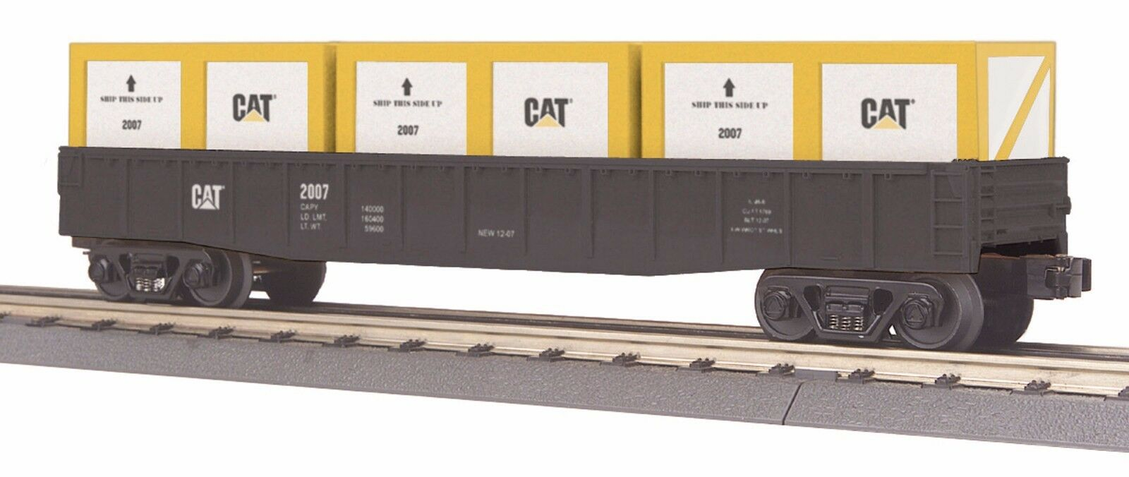 30-72002 Caterpillar Gondola Car w Crates - MTH Rail King