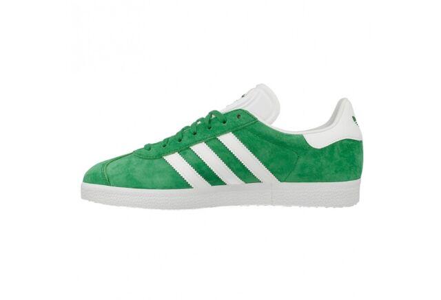 adidas Originals Gazelle Green White Nubuck Men Classic Shoe Sneaker BB5477
