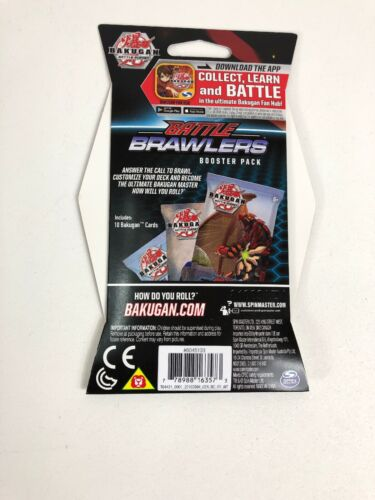 BAKUGAN Battle Planet Brawlers Set of 1 Booster 10 Card Pack