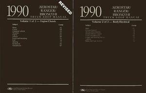 OEM-Repair-Maintenance-Shop-Manual-Ford-Truck-Aerostar-Bronco-II-Ranger-1990