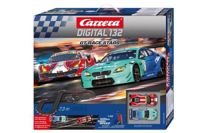 carrera digital 132  Buy Carrera 1/32 Digital 132 GT Race Stars Electric Slot Car Set ...