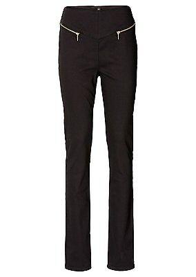 Pantaloni Tubo Alta Bund 913689 Chino Jeans Stretch Nero Mis. 36-mostra Il Titolo Originale