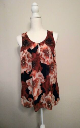 New York and Company Floral Blouse (M)