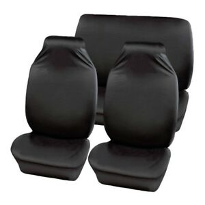 BLACK DACIA DUSTER EXTRA HEAVY DUTY CAR SEAT COVERS PROTECTORS X2 WATERPROOF