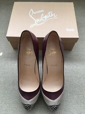 Authentic Christian Louboutin Maggie 140 High Heel Shoes Size 40 Leather & Suede