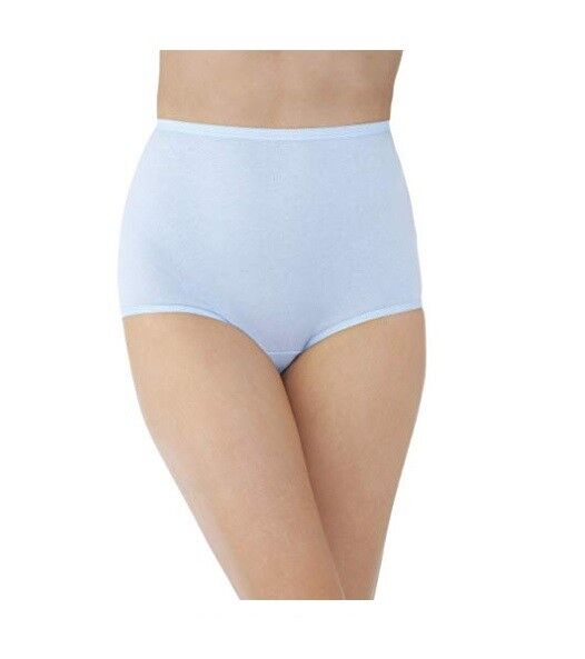 27428368f3a271 Vanity Fair 15318 Perfectly Yours Tailored Cotton Brief Panties 7 Sachet  Blue   eBay