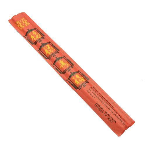 "Individually wrappe WD Disposable Chinese Bamboo Chopsticks Kari-Out 9/"" Long"