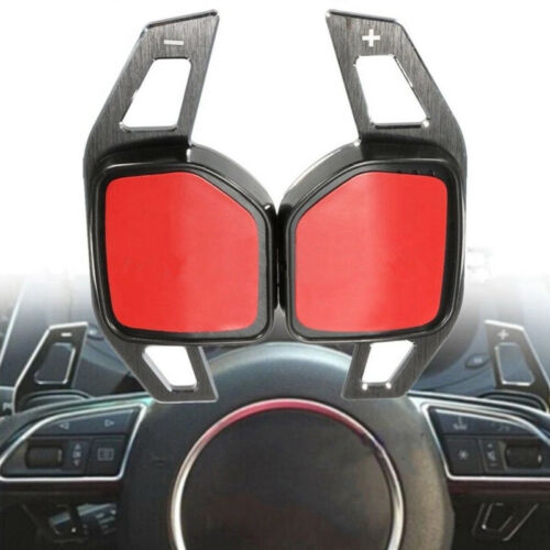 Pair Gear Shift Steering Wheel Extension Paddle For Audi A1 A3 A4 A6 A7 A8 Q5 Q7