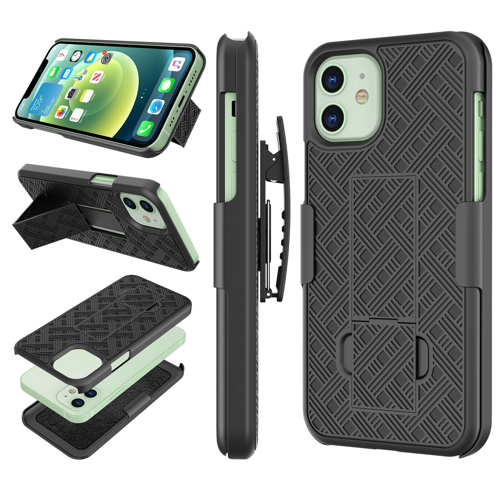 Seidio Dilex Case With Kickstand And Holster Combo For Htc U11 Black Black For Sale Online Ebay