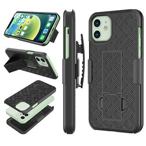 For iPhone 12 Pro Max Mini 11 Case Holster Belt Clip Combo Cover With Kickstand