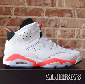 on sale 4c891 b6c86 Details about Nike Air Jordan 6 VI White Infrared Black 384664-123 Size 10.5