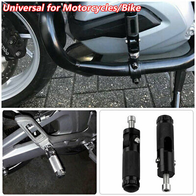 Shiwaki Universal CNC Motorcycle Scooter Dirt Bike ATV Footrests Foot Pegs Negro