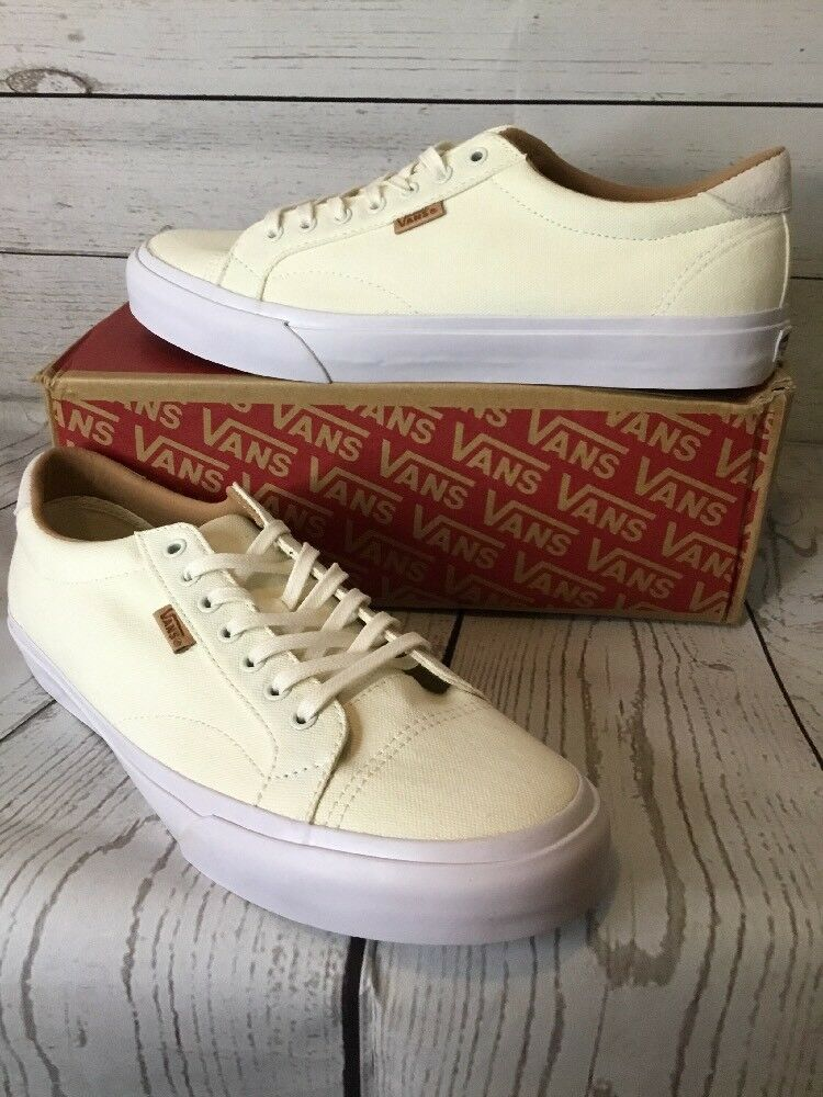Vans Court + Washed Canvas Marshmallow white Ultracush Mens 10.5