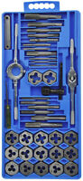 40 PCS METRIC TAP WRENCH AND DIE SET CUTS M3-M12 BOLTS + HARD CASE