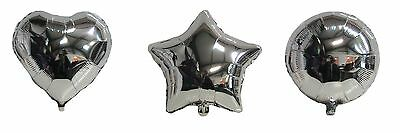 """HELIUM FOIL BALLOONS BIRTHDAY WEDDING PARTY 20"""" STAR 18"""" HEART OR 18"""" ROUND"""