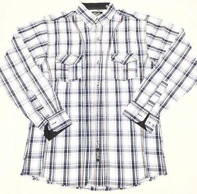 hip hop urban retro college plaid oxford top Time is Money purple check shirt