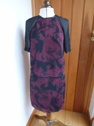 Black Dawn Claret Mini 4 Bnwt Wine Reiss Shift Print Dress Uk Overlay Stwqtd0I