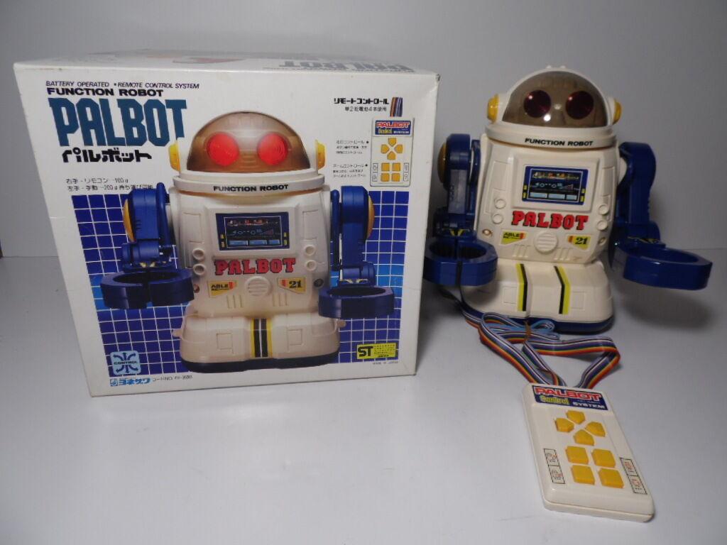 COMPLETE Vintage 1980s JAPAN JAPANESE PALBOT FUNCTION ROBOT ORIGINAL BOX REMOTE