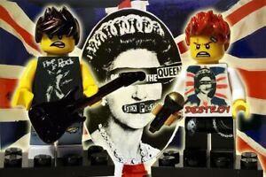 David Bowie Rebel Rebel Eye Patch Custom Lego Minifigure Unique Birthday Gift