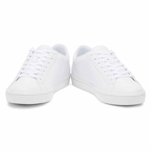 Lacoste Straightset BL 1 Mens White Trainers Lace Up Sport Casual Shoes
