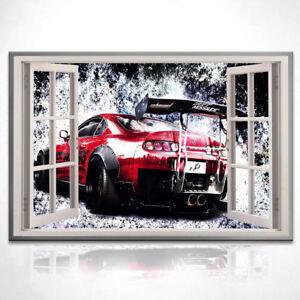 Bild Leinwand Fenster Blick Auto Sport Wagen Bilder Wandbilder