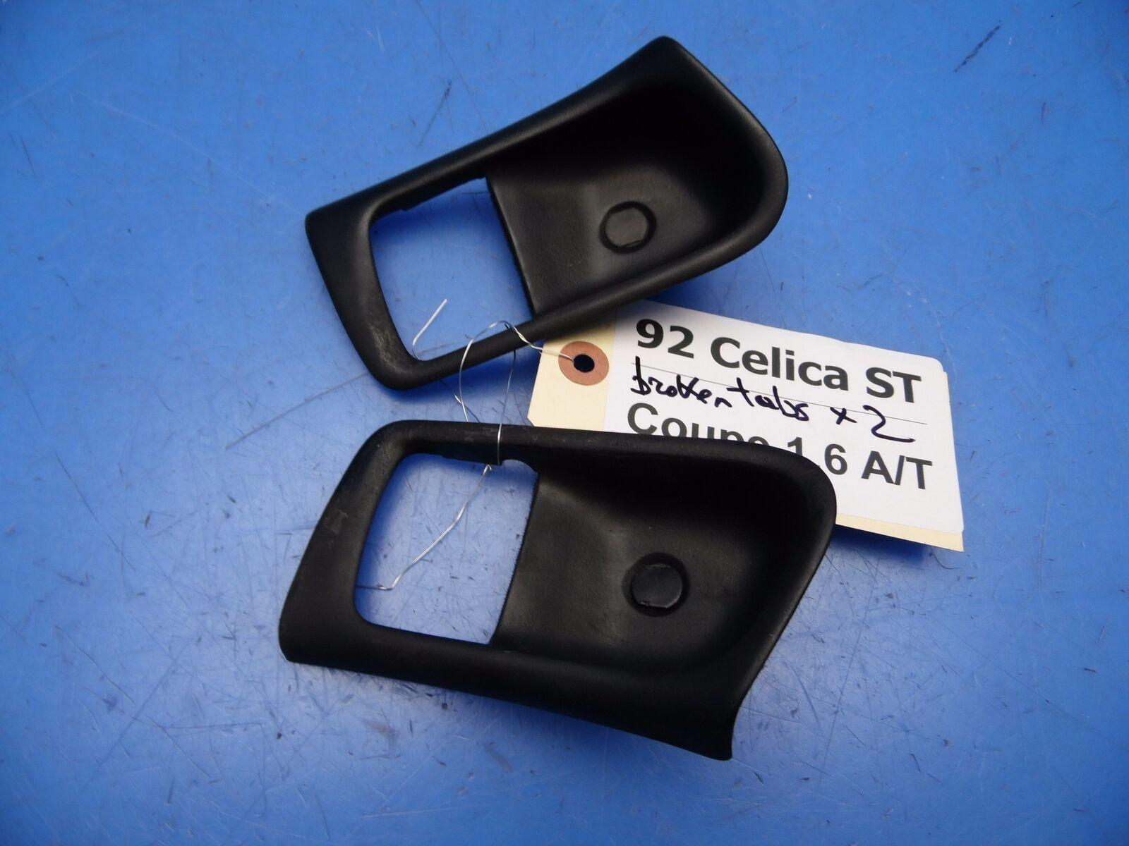BLACK STITCH 2X FRONT DOOR HANDLE ARMREST SKIN COVERS FITS TOYOTA CELICA 76-77