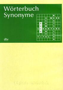 Wörterbuch Synonyme Cd Digitale Bibliothek Nr 84 Ebay
