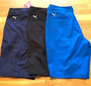 Puma-mens-Golf-Tech-shorts-577369-multiple-szs-32-34-36-38-Black-Grey-Blue-new