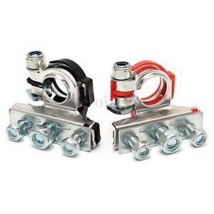 2-Stueck-Batterieklemme-Batterieklemmen-Auto-KFZ-PKW-Batterie-Polklemmen