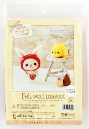 Hamanaka H441-307 Felt Wool Handicraft Kit Mascot Rabbit /& Chick