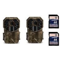 Stealth Cam G45ng 14mp Ir No Glo Infrared Game Trail Cameras (2 Pack) + Sd Cards on sale