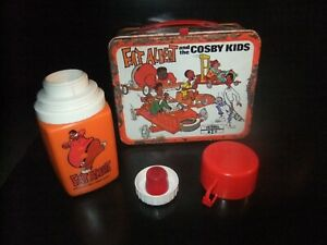 VINTAGE-1973-FAT-ALBERT-AND-THE-COSBY-KIDS-METAL-LUNCH-BOX-w-THERMOS-cartoon