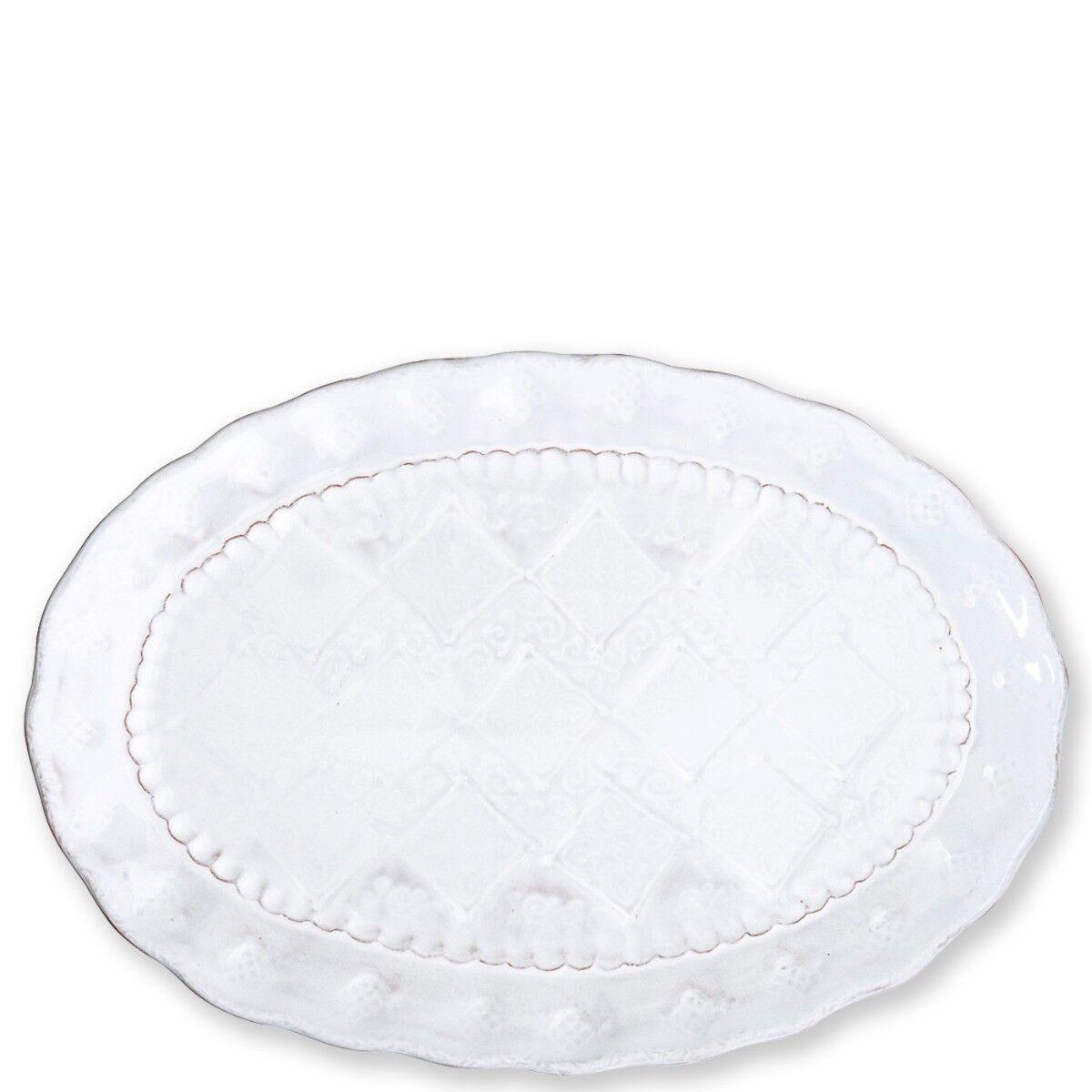Vietri Bellezza Stone blanc Medium Oval Platter